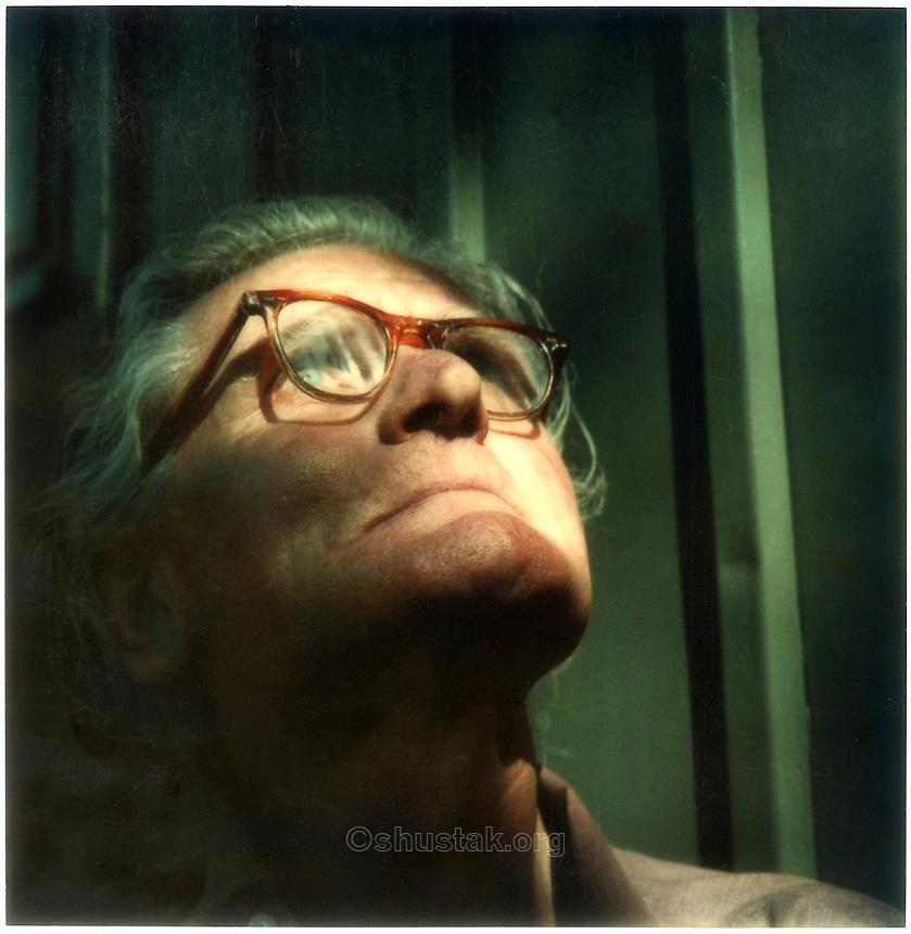 Rudi Gopas, artist (1913 - 1983) SX-70 photograph c.1976.