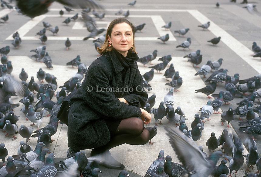 Milan, Italy, 1999. Barbara Curli, Italian writer and professor of history. © Leonardo Cendamo