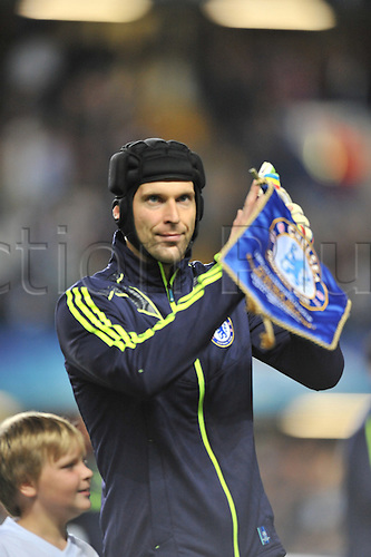 13.09.2011 Group E Champions League Football from Stamford Bridge in London. Chelsea v Bayer Leverkusen. Chelsea skipper Petr Cech