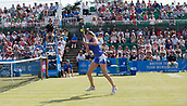 June 18th 2017, Nottingham, England; WTA Aegon Nottingham Open Tennis Tournament day 7 finals day;  Backhand volley from Donna Vekic of Croatia in her match with Johanna Konta of Great Britain
