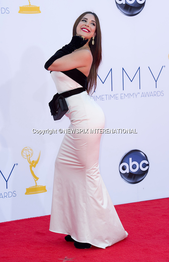"MAYRA VERONICA - 64TH PRIME TIME EMMY AWARDS.Nokia Theatre Live, Los Angelees_23/09/2012.Mandatory Credit Photo: ©Dias/NEWSPIX INTERNATIONAL..**ALL FEES PAYABLE TO: ""NEWSPIX INTERNATIONAL""**..IMMEDIATE CONFIRMATION OF USAGE REQUIRED:.Newspix International, 31 Chinnery Hill, Bishop's Stortford, ENGLAND CM23 3PS.Tel:+441279 324672  ; Fax: +441279656877.Mobile:  07775681153.e-mail: info@newspixinternational.co.uk"