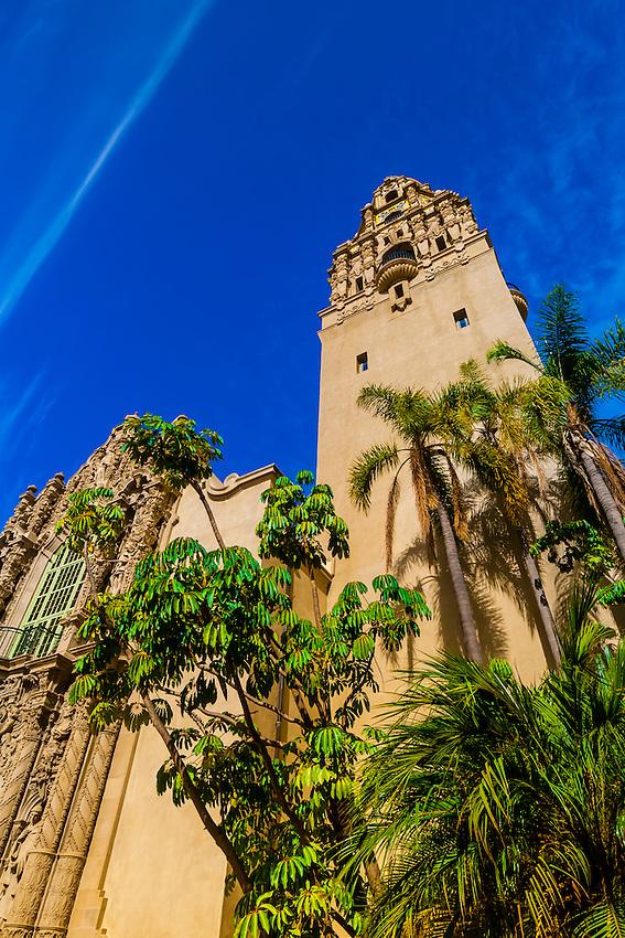 California Tower, Museum of Man, Balboa Park, San Diego, California USA.