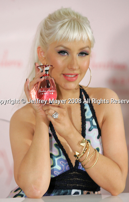 "GLENDALE, CA. - December 05: Christina Aguilera attends the Launch of Christina Aguilera's perfume ""Inspire"" at Macy's Glendale  Galleria on December 5, 2008 in Glendale California."
