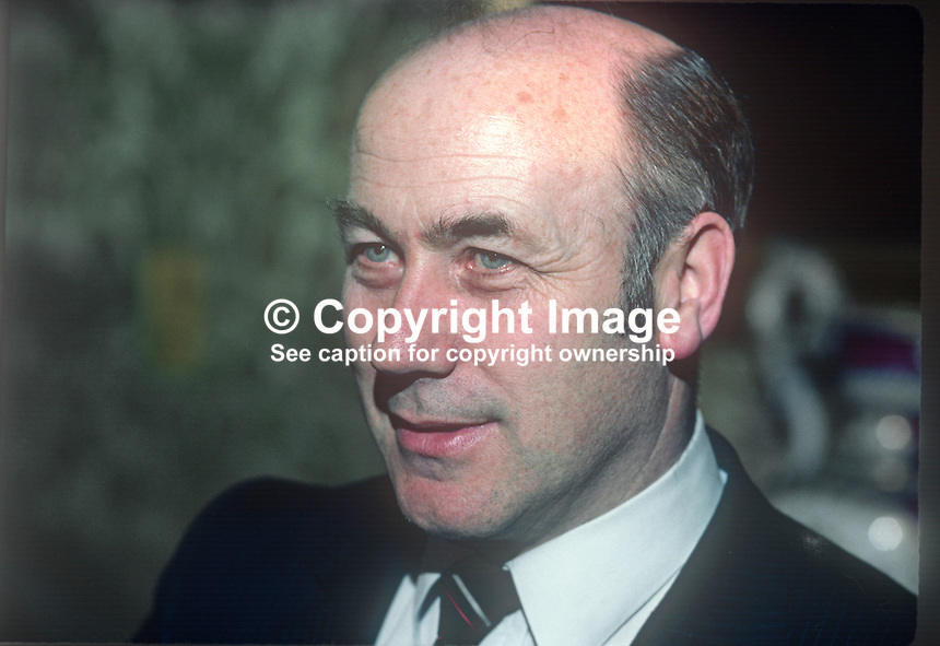 Martin O'Donoghue, TD, Minister for Education, Fianna Fail, Rep of Ireland, March, 1982, 198203000037MOD1<br />