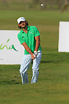 Johan Edfors (SWE) chips out of the rough onto the par3 9th green during Day 2 Friday of the Open de Andalucia de Golf at Parador Golf Club Malaga 25th March 2011. (Photo Eoin Clarke/Golffile 2011)