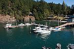 Shaw Island marina at the Washington State Ferry landing