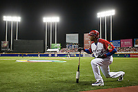 9 March 2009: #51 Bernie Williams of Puerto Rico waits in the batters box during the 2009 World Baseball Classic Pool D game 4 at Hiram Bithorn Stadium in San Juan, Puerto Rico. Puerto Rico wins 3-1 over Netherlands