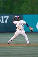 July 15, 2009: Oklahoma City RedHawks' Esteban German playing third base during the 2009 Triple-A All-Star Game at PGE Park in Portland, Oregon.