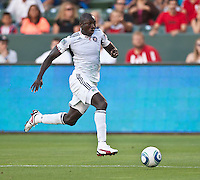 CARSON, CA – July 2, 2011: Chicago Fire midfielder Dominic Oduro (8) during the match between Chivas USA and Chicago Fire at the Home Depot Center in Carson, California. Final score Chivas USA 1, Chicago Fire 1.