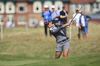 Nuria Iturrioz (ESP) on the 2nd fairway during Round 3 of the Ricoh Women's British Open at Royal Lytham &amp; St. Annes on Saturday 4th August 2018.<br /> Picture:  Thos Caffrey / Golffile<br /> <br /> All photo usage must carry mandatory copyright credit (&copy; Golffile | Thos Caffrey)