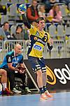 GER - Mannheim, Germany, September 23: During the DKB Handball Bundesliga match between Rhein-Neckar Loewen (yellow) and TVB 1898 Stuttgart (white) on September 23, 2015 at SAP Arena in Mannheim, Germany.  Andy Schmid #2 of Rhein-Neckar Loewen<br /> <br /> Foto &copy; PIX-Sportfotos *** Foto ist honorarpflichtig! *** Auf Anfrage in hoeherer Qualitaet/Aufloesung. Belegexemplar erbeten. Veroeffentlichung ausschliesslich fuer journalistisch-publizistische Zwecke. For editorial use only.