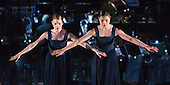 """© Licensed to London News Pictures. 12/05/2015. London, England. Rambert Dance Company perform the World Premiere of """"Dark Arteries"""" by Mark Baldwin as part of a triple bill at Sadler's Wells Theatre. Rambert perform with the Tredegar Town Band and the Rambert Orchestra from 12 to 16 May 2015. Photo credit: Bettina Strenske/LNP"""