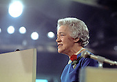 United States Senator Margaret Chase Smith (Republican of Maine) speaks during the first night of the 1972 Republican National Convention at the Miami Beach Convention Center in Miami Beach, Florida on August 21, 1972.  At the 1964 Republican National Convention in San Francisco, California, Sen. Smith made history by becoming the first woman to have her name placed in nomination for the presidency of the United States at a major political party's convention.<br /> Credit: Arnie Sachs / CNP
