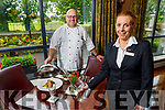 Rose Hotel Chef Odran Lucey and Orla Greaney demonstrating the new safety protocols for food as the Rose Hotel gets ready to re-open.