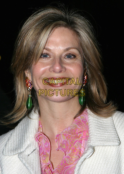GLYNIS BARBER.The Saatchi Gallery's first anniversary party at County Hall which coincides with the launch of new exhibition New Blood.23 March 2004.portrait, headshot, earrings.www.capitalpictures.com.sales@capitalpictures.com.© Capital Pictures.