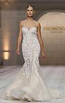 02.05.2014 Barcelona, Spain. Barcelona Bridal week. Pronovias catwalk. Karolina Kurkova