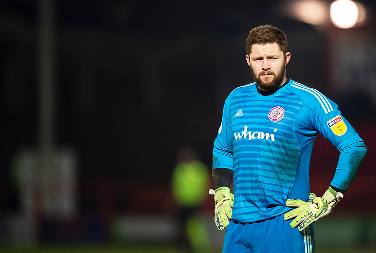 Accrington Stanley's Jonathan Maxted<br /> <br /> Photographer Andrew Vaughan/CameraSport<br /> <br /> The EFL Checkatrade Trophy Second Round - Accrington Stanley v Lincoln City - Crown Ground - Accrington<br />  <br /> World Copyright &copy; 2018 CameraSport. All rights reserved. 43 Linden Ave. Countesthorpe. Leicester. England. LE8 5PG - Tel: +44 (0) 116 277 4147 - admin@camerasport.com - www.camerasport.com