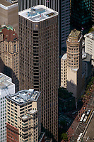 aerial photograph McKesson Plaza, the Hobart Building and Market Street, San Francisco, California