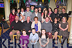 TRACK TIME: Molly Hennessy, Spa Road, Tralee (seated centre) enjoying a great time celebrating her 60th birthday with family and friends at the Kingdom Greyhound Stadium Night at the Dogs on Saturday.