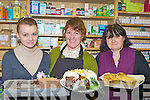 Shauna McCannon, Breeda Greene and Sheila Healy enjoying some treats at A Taste of Christmas in Horan's Health Store Killarney on Friday