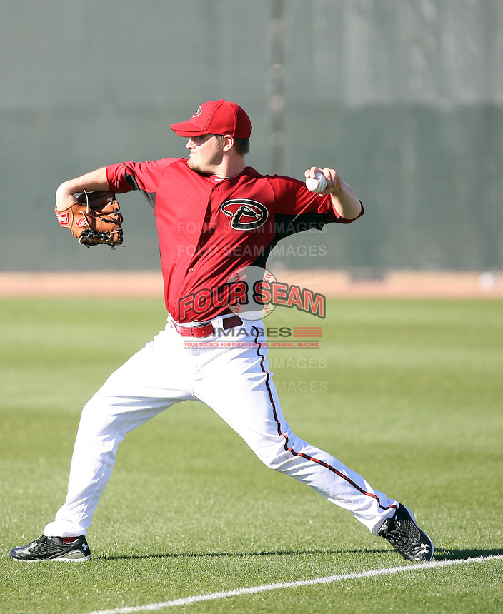 Wade Miley, Arizona Diamondbacks 2011 spring training workouts at the Diamondbacks new training complex at Salt River Fields at Talking Stick, Scottsdale, AZ - 02/14/2011.Photo by:  Bill Mitchell/Four Seam Images.