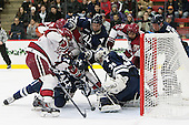 Phil Zielonka (Harvard - 72), Stu Wilson (Yale - 6), Eddie Ellis (Harvard - 7), Rob O'Gara (Yale - 4), Alex Lyon (Yale - 34), Joseph Caffrey (Harvard - 24), Mitch Witek (Yale - 10) - The visiting Yale University Bulldogs defeated the Harvard University Crimson 2-1 (EN) on Saturday, November 15, 2014, at Bright-Landry Hockey Center in Cambridge, Massachusetts.