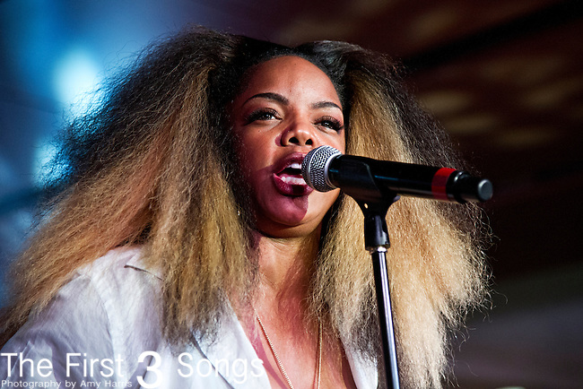 Leela James performs at the 2013 Essence Festival at the Mercedes-Benz Superdome in New Orleans, Louisiana.