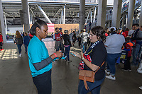 CHICAGO, IL - OCTOBER 06: Listerine Ready Tab distribution during a game between the USA and Korea Republic at Soldier Field, on October 06, 2019 in Chicago, IL.