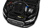 Car stock 2018 Audi A4 Avant Sport 5 Door Wagon engine high angle detail view