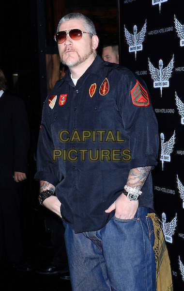 EVERLAST.Grand Opening of Wasted Space Night Club inside the Hard Rock Resort Hotel and Casino, Las Vegas, Nevada, USA..July 19th, 2008.half length black shirt hands in pocets  sunglasses shades beard facial hair .CAP/ADM/MJT.© MJT/AdMedia/Capital Pictures.