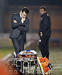 Danny Lennon dejection at full-time