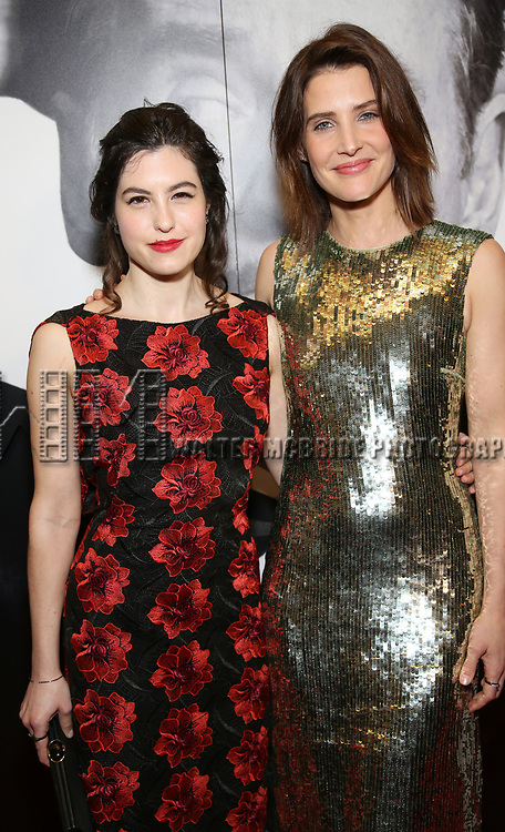 Tedra Millan and Cobie Smulders attends Broadway Opening Night After Party for 'Present Laughter' at Gotham Hall on April 5, 2017 in New York City.