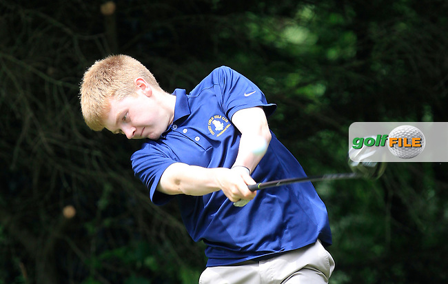 Shane McDermott (Co. Cavan) on the 2nd tee during Round 3 of the Irish Boys Amateur Open Championship at Tuam Golf Club on Thursday 25th June 2015.<br /> Picture:  Thos Caffrey / www.golffile.ie