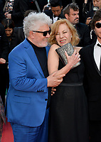 Pedro Almodovar &amp; Cecilia Roth at the gala screening for &quot;The Eternals&quot; at the 71st Festival de Cannes, Cannes, France 11 May 2018<br /> Picture: Paul Smith/Featureflash/SilverHub 0208 004 5359 sales@silverhubmedia.com
