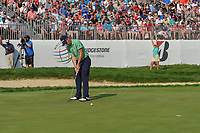 Justin Thomas (USA) watches his putt on 18 during 4th round of the World Golf Championships - Bridgestone Invitational, at the Firestone Country Club, Akron, Ohio. 8/5/2018.<br /> Picture: Golffile | Ken Murray<br /> <br /> <br /> All photo usage must carry mandatory copyright credit (© Golffile | Ken Murray)