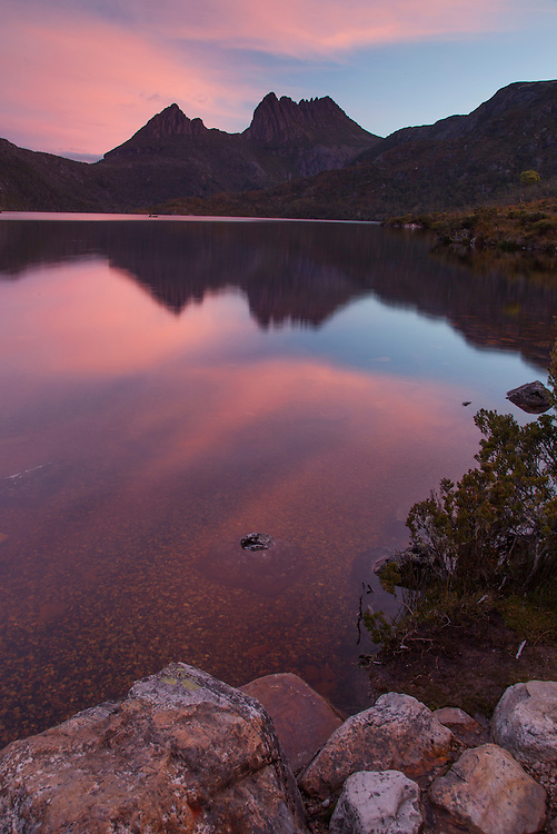 Sunset at Dove Lake in Cradle Mountain NP