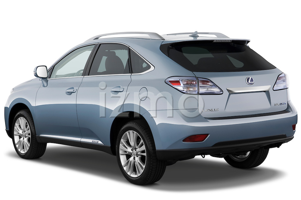 Rear three quarter view of a 2010 Lexus RX 450h