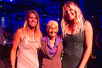 Darling Harbour, Sydney. (20th February, 2013): Pam Burridge (AUS), Phylis O'Donnell (AUS), and Stephanie Gilmore (AUS). Australian surfing celebrated its champions tonight with Mark Richards and Stephanie Gilmore honoured at the Australian Surfing Awards in Sydney...The Awards marked a significant milestone in Surfing Australia's history as it celebrated its 50th Anniversary following its formation in 1963 as the Australian Surfriders Association and over 500 guests celebrated at the gala event. It was an unprecedented gathering of Australian surfing legends from the past 50 years...Four-times World Champion Mark Richards was named Australia's Most Influential Surfer 1963-2013, while five-times World Champion Stephanie Gilmore was inducted as the 35th member of the Australian Surfing Hall of Fame...The campaign to find Australia's 10 Most Influential Surfers 1963-2013 was conducted through a public vote and through votes provided by the members of the Australian Surfing Hall of Fame...The 10, in order of votes received, was: Mark Richards, Simon Anderson, Nat Young, Michael Peterson, Midget Farrelly, Tom Carroll, Layne Beachley, Wayne Bartholomew, Mark Occhilupo and Bob McTavish...Peter 'Joli' Wilson's photo of the wave Cloudbreak off Fiji during the enormous run of swell in June won the Nikon Surf Photo of the Year and Storm Surfers 3D featuring Ross Clarke-Jones and Tom Carroll was named the Nikon Surf Movie of the Year...2013 AUSTRALIAN SURFING AWARDS WINNERS..Australian Surfing Hall of Fame Inductee: Stephanie Gilmore.Australia's Most Influential Surfer 1963-2013: Mark Richards.Male Surfer of the Year: Joel Parkinson.Female Surfer of the Year: Stephanie Gilmore.Rising Star: Jack Freestone.Waterman of the Year: Jamie Mitchell.ASB Surfing Spirit Award: Misfit Aid.Peter Troy Lifestyle Award: Bob Smith.Surf Culture Award: The Reef - by the Australian Chamber Orchestra and Tura New Music.Simon Anderson Club Award: Kirra Surfriders Club.Nikon Surf Movie of