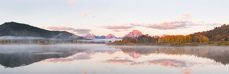 67545-08815 Sunrise at Oxbow Bend in fall, Grand Teton National Park, WY