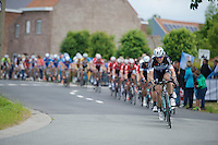 Kevin De Weert (BEL/OmegaPharma-Quickstep) leading the way<br /> <br /> Belgian Championships 2014 - Wielsbeke<br /> Elite Men