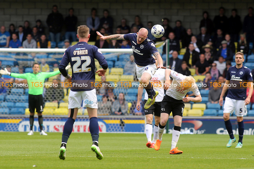 Nicky Bailey of Millwall heads the ball upfield - Millwall vs Derby County - Sky Bet Championship Football at the New Den, Bermondsey, London - 25/04/15 - MANDATORY CREDIT: Paul Dennis/TGSPHOTO - Self billing applies where appropriate - contact@tgsphoto.co.uk - NO UNPAID USE