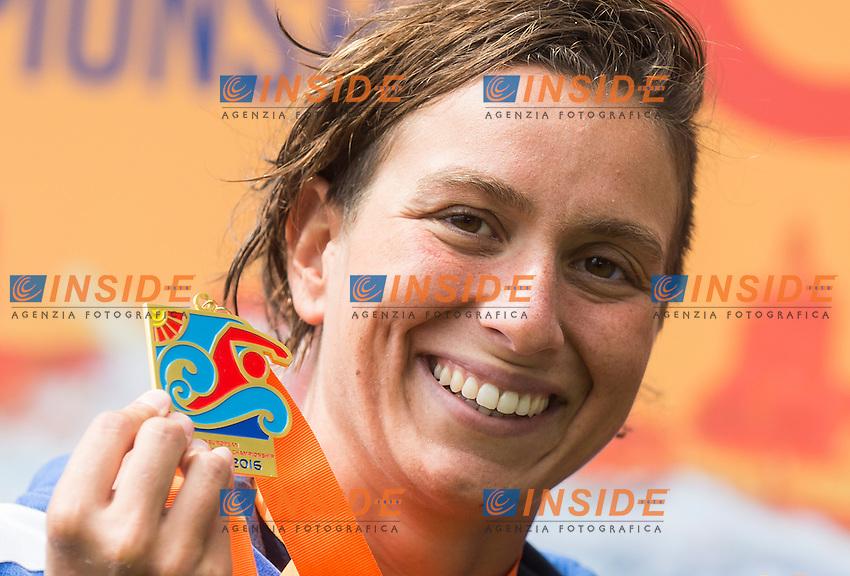 BRUNI Rachele ITA gold medal European Champion<br /> Hoorn, Netherlands <br /> LEN 2016 European Open Water Swimming Championships <br /> Open Water Swimming<br /> Women's 10km<br /> Day 01 10-07-2016<br /> Photo Giorgio Perottino/Deepbluemedia/Insidefoto