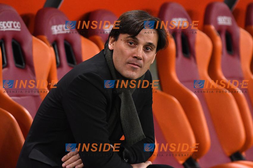 Vincenzo Montella Milan <br /> Roma 12-12-2016 Stadio Olimpico Football <br /> Campionato Serie A 2016/2017 <br /> AS Roma - Milan <br /> Foto Andrea Staccioli / Insidefoto