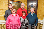 Grace Mahoney, Noreen Griffin, Pat and Enda Mahoney and Patrick Griffin from Tralee and Killorglin enjoying the night out in the Brogue Inn on Saturday night.