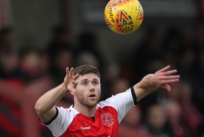 Fleetwood Town's Wes Burns <br /> <br /> Photographer Mick Walker/CameraSport<br /> <br /> The EFL Sky Bet League One - Fleetwood Town v Luton Town - Saturday 16th February 2019 - Highbury Stadium - Fleetwood<br /> <br /> World Copyright © 2019 CameraSport. All rights reserved. 43 Linden Ave. Countesthorpe. Leicester. England. LE8 5PG - Tel: +44 (0) 116 277 4147 - admin@camerasport.com - www.camerasport.com