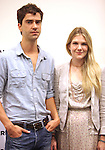 Hamish Linklater & Lily Rabe.attending the New Broadway Production 'Seminar' Meet & Greet at the Foxwoods Rehearsal Studioa in New York City.