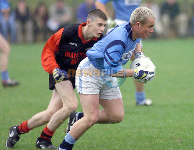 Action from Newtown Blues V Mattock Rangers in Dunleer..Picture Paul Mohan Newsfile.