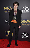 BEVERLY HILLS, CA - NOVEMBER 04: Timothee Chalamet arrives at the 22nd Annual Hollywood Film Awards at the Beverly Hilton Hotel on November 4, 2018 in Beverly Hills, California.<br /> CAP/ROT/TM<br /> &copy;TM/ROT/Capital Pictures