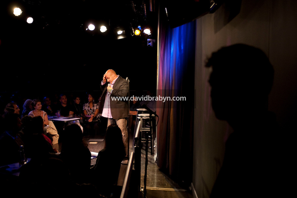 Comedian Mike Bateyah performs in the 6th Annual NY Arab-American Comedy Festival in New York, USA, 13 May 2009.