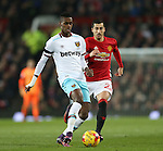 Edmilson Fernandes of West Ham United during the English League Cup Quarter Final match at Old Trafford  Stadium, Manchester. Picture date: November 30th, 2016. Pic Simon Bellis/Sportimage